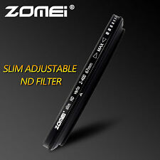 ZOMEI 67mm ND2-400 Slim Fader Adjustable Variable Neutral Density Filter DSLR