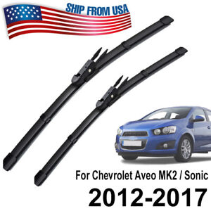 XUKEY Front Window Windshield Wiper Blades Set For Chevrolet Aveo Sonic 2012-20