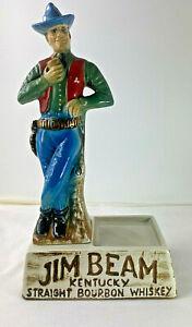 Jim Beam Vintage Advertising Porcelain Cowboy Bottle Display