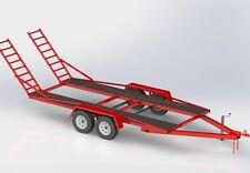 DIY BUILD - TRAILER PLANS -  TWIN AXLE CAR TRAILER