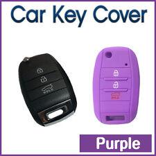 CAR KEY COVER Remote SILICONE CASE fits KIA Cerato 3Button Flip -PURPLE