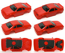 1992 TYCO Ford Thunderbird SC Slot Car Body Unused HOT RED Prototype BODY PAIR