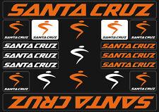 Santa Cruz Bicycle Frame Decals Stickers Graphic Adhesive Set Vinyl Orange