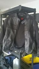 DAINESE QUILTED RIDERS ARMOR CAFE RACER MOTORCYCLE BIKER LEATHER JACKET 56 xxl