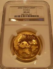 China 2006 Gold 1 OZ Panda 500 Yuan NGC ms-68