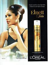Publicité Advertising 058   2011   L'Oréal  laque Elnett satin F.Pinto F. Cannes