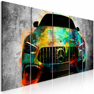 MERCEDES AUTO Wandbilder xxl Bilder auf Vlies Leinwand Leinwandbild i-A-0167-b-m