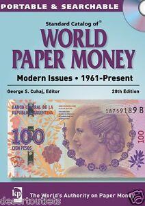 Standard Catalog of World Paper Money 1961 - Present By George S. Cuhaj CD