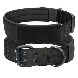 Camouflage Black Pet Dog Collars Heavy Duty Training German Shepherd K9 Large