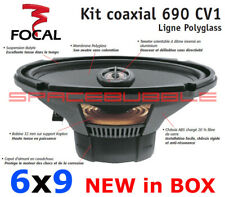 New in Box FOCAL Polyglass 690 CV1 2 Way Coaxial Car Audio Speaker Kit NIB Set
