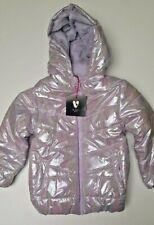 Girls coat jacket baby V by Very padded warm metallic 3 6 9 m 2 3 4 5 6 y NEW