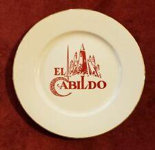 VTG DINNER PLATE / EL CABILDO RESTAURANT / SAN JUAN PUERTO RICO 1960's RARE