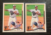 Jonathan Schoop RC Lot(2) 2014 Topps #83 Baltimore Orioles