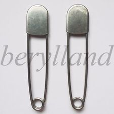 """Tool Gadget 5"""" Vintage Big Laundry Net Bags Pins Stainless Steel Safety Pins x 2"""