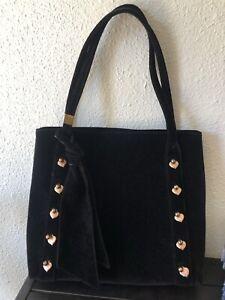 Eric Javits New York Large Velvet Bag Purse tote: retro French style