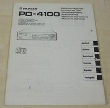 Pioneer PD-4100 Bedienungsanleitung (mehrsprachig, auch in Deutsch)