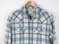 LEVI'S STRAUSS & CO Women Check Vintage Casual Shirt Size L ACZ504