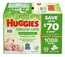 Huggies Natural Care Sensitive Baby Wipe Refill Fragrance Free 1,088 ct