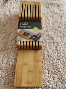New Joseph Joseph DrawerStore Knife Organiser, Bamboo, Safe, organised knives