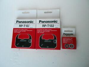 (2) Panasonic RP-T132 Print Ribbon Cassettes & (1) RP-131 2-Pack Correction Tape