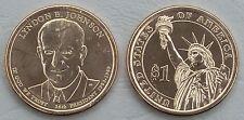 Presidente de estados unidos 2015 dólar lyndon B johnson d unz.