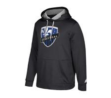 adidas Montreal Impact Black Logo Pullover Hoodie Unisex Medium Pullover
