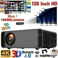 18000 Lumens 1080P 3D LED 4K Mini Wifi Video Home Theater Projector Cinema HDMI