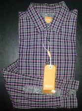 NWT $125 M Purple Gray Black BOSS HUGO BOSS L/S Club Shirt! s2433