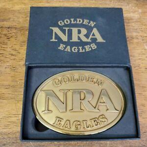 NRA National Rifle Association Golden Eagles Belt BuckleLIMITED EDITION