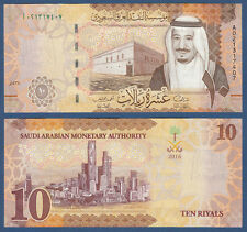 SAUDI ARABIEN / SAUDI ARABIA 10 Riyals 2016  UNC P.NEW