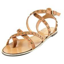 Calzado de mujer sandalias con tiras de color principal beige sintético