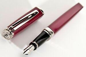 New,Waterman Exception Slim, Rare Color Raspberry Fountain Pen.