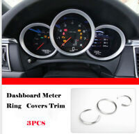Silver Dashboard Decorative Ring Cover Trim For Porsche Cayman Boxster Macan 14+