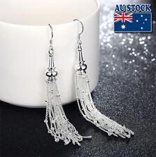 Wholesale Stunning 925 Sterling Silver Filled Womens Long Tassel Earrings Gift