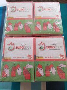 PANINI EURO 2008 AUSTRIA-SWITZERLAND- 4 X SEALED BOXES-400 SEALED PACKETS.