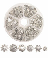210PCS /Box Antiqued Silver Metal Bead Caps for jewelry making Post From USA