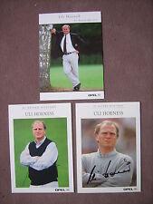 3x Autogrammkarte Uli Hoeneß (FC Bayern München) Clipping