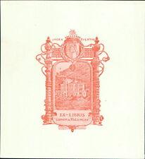 'Conde de Valenças'  Bookplate  (JC.133)