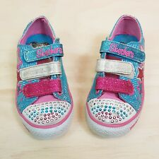 Size EUR 30 or US 13 / UK 12 TWINKLE TOES By Skechers girls light glitter shoes