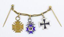 Bayern Miniatur Frackkettchen MVO Eisernes Kreuz FEK