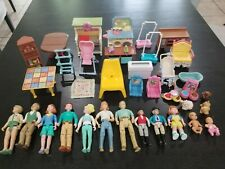 Lot Fisher-Price Loving Family Dollhouse-VGC-Grandparents Baby Furniture Mom Dad
