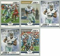 Dallas Cowboys 23 card 2012 Score insert & parallel lot-all different