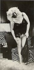 Vintage 40s-50s Semi Nude- Sepia- Knock Out Blond- Takes Off Panties- Telephone