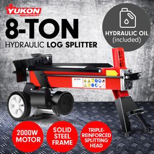 Yukon 240v 8 TON ELECTRIC HYDRAULIC LOG SPLITTER TIMBER FIRE WOOD BLOCK CUTTER