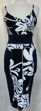 GIANFRANCO FERRE Bodycon Stretch Dress Tropical Floral Sleeveless Made n Italy S