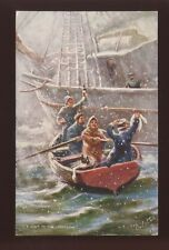 Lifeboatmen Lifeboat Visit to the Lightship Tuck Oilette  #9029 PPC 1906