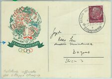 68095 - GERMANY - POSTAL HISTORY - OFFICIAL POSTCARD - 1936 Olympic games