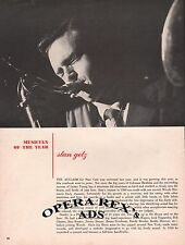 STAN GETZ Original Vintage MAGAZINE PAPER AD 1950 HALTONE