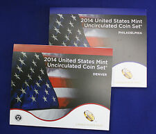"2014 U.S. Mint Set. Complete 28 coin set. Includes 14 each ""P"" and ""D"" Mint"