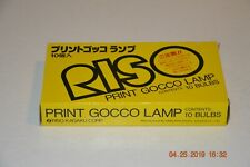 10-Pack RISO Print Gocco Lamps (Flash Bulbs) for B6, B5, PG-5, PG-11 New Old Stk